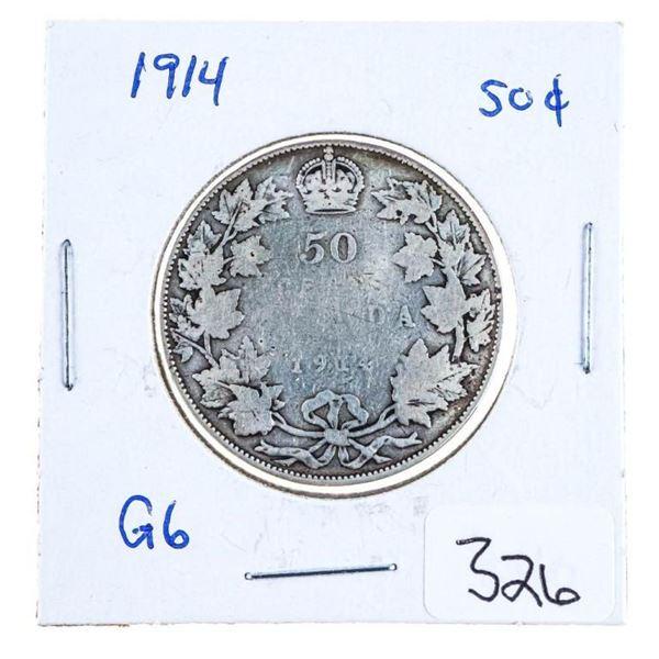 1914 Canada Silver 50 Cents