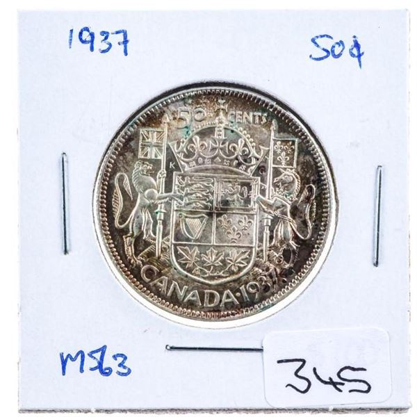 1937 Canada Silver 50 cents MS63
