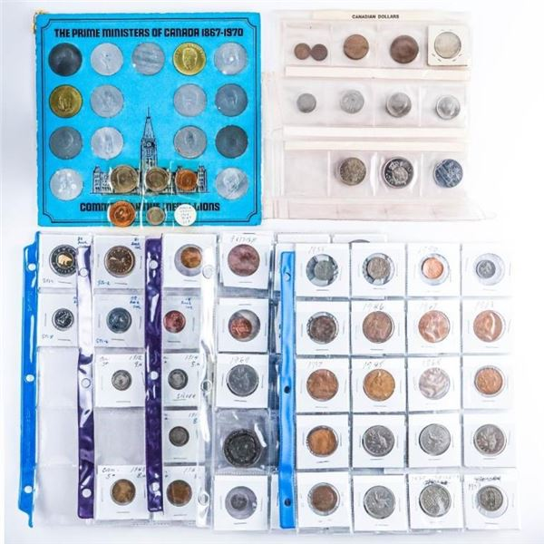 Estate Lot - Coins - Medals Tokens - World Coins  2x2's Sheets Etc.
