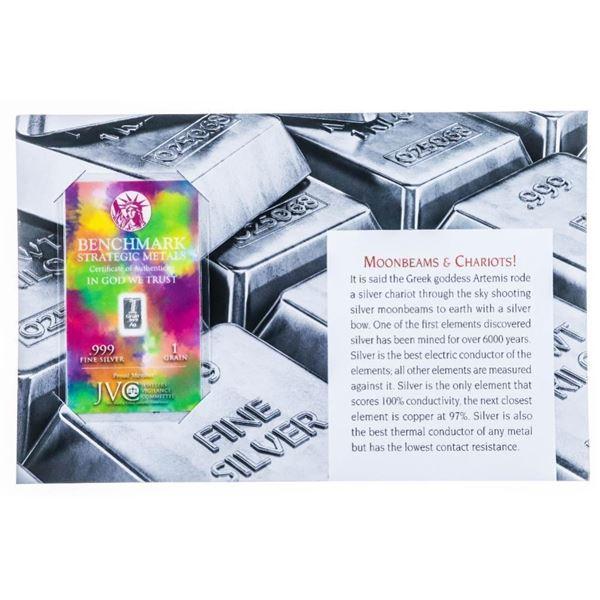 Moonbeams & Chariots - .999 Fine Silver Bullion  Bar - Sealed Serialized w/ Giclee Art card