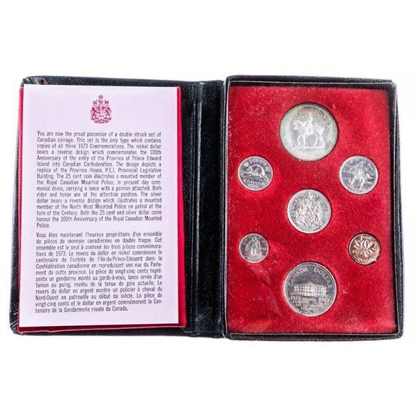 RCM 1973 Prestige/Specimen Coin Set Black Leather  Case