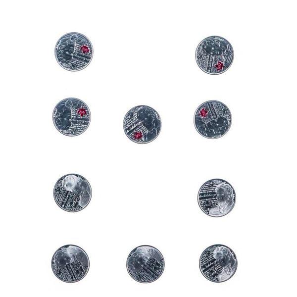 "The War of 1812 ""SALABERRY"" 10 x 25 Cent Coin Set  UNC w/Colour"