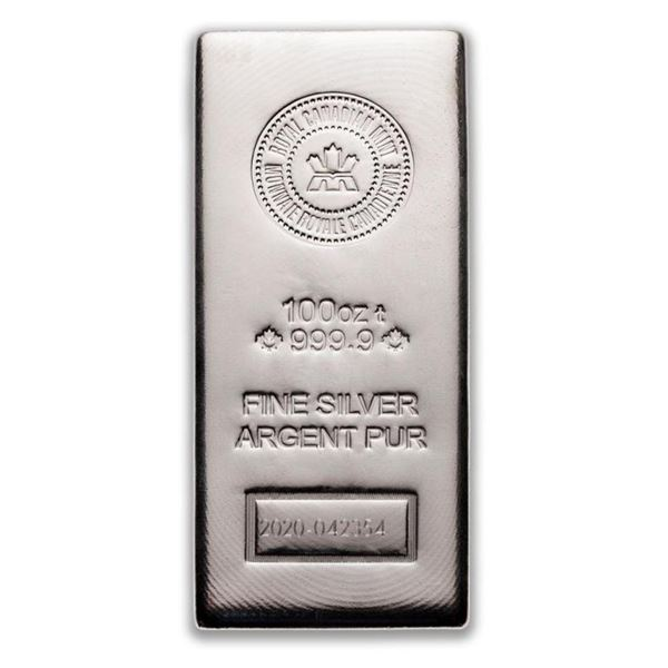 Prestige - Royal Canadian Mint 100oz Fine Silver  Bar. INVESTMENT QUALITY BULLION. (Available For  P