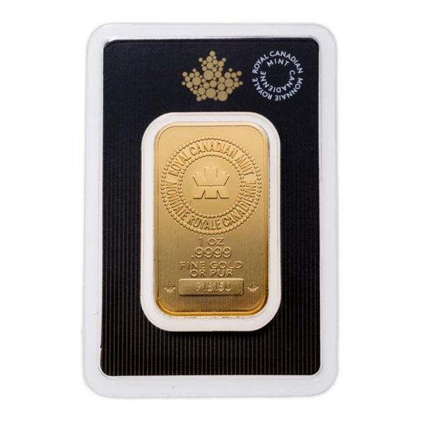 Prestige - Royal Canadian Mint .9999 Fine Gold 1oz  Bar. (Available for Pick Up or Delivery within