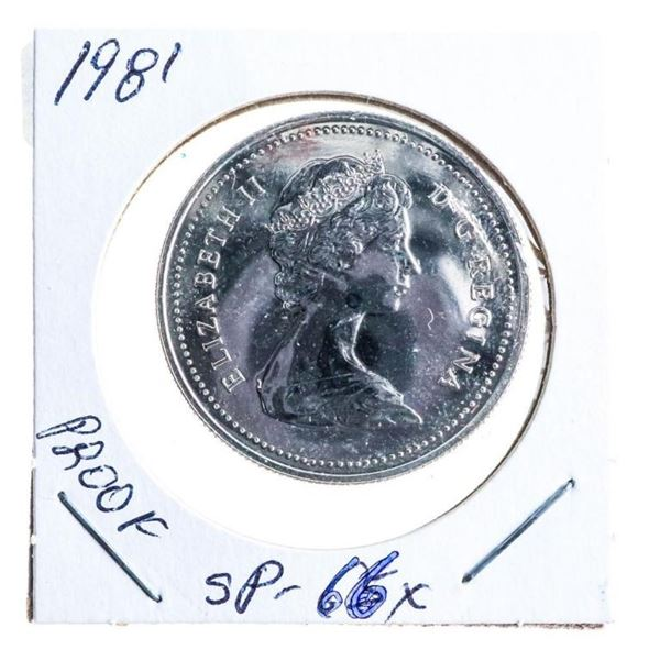 1981 Canada Nickel Dollar Proof SP 66x