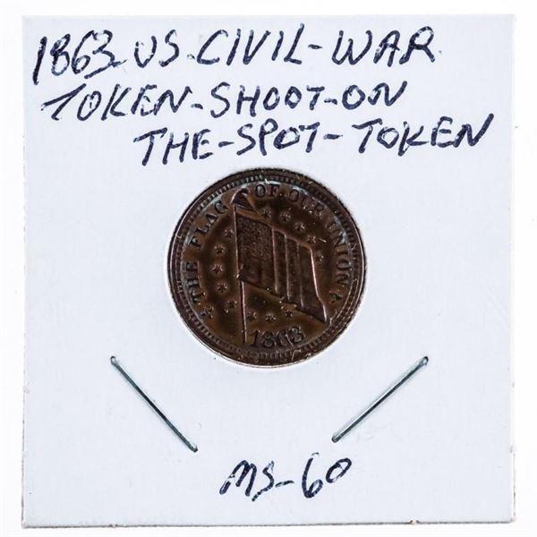 1863 US Civil War Token Shoot-On The Spot -Token