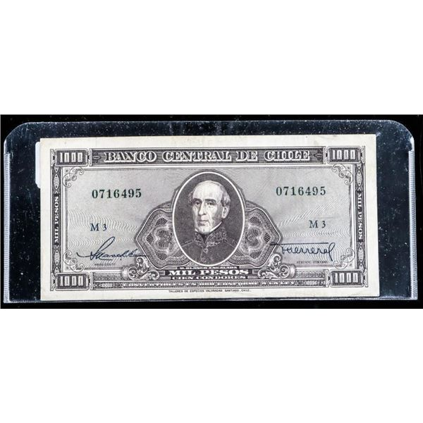CHILE 1947-59 1000 Pesos AU