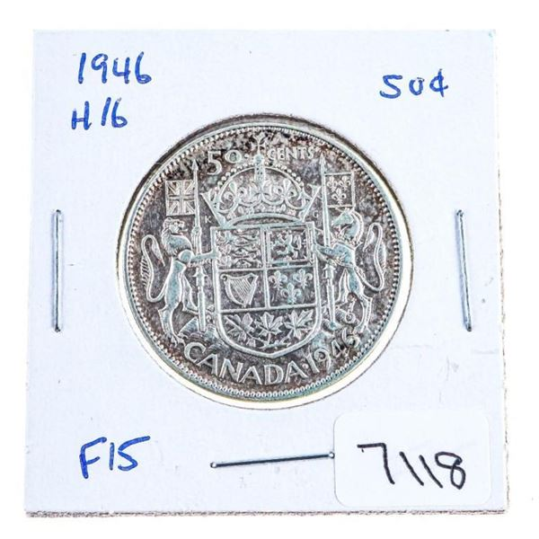 1946 Canada Silver 50 Cents H16