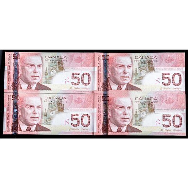 Lot 4 Bank of Canada 2004 $50 In Sequence Gem Unc