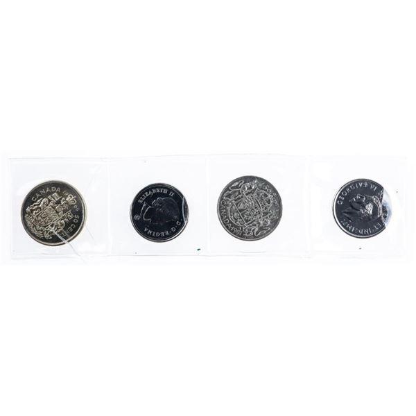 Group of 4 Canada Silver & Nickel Half Dollars,  2021 x 2 100th Anniversary, 1950 George & 1964  Eli