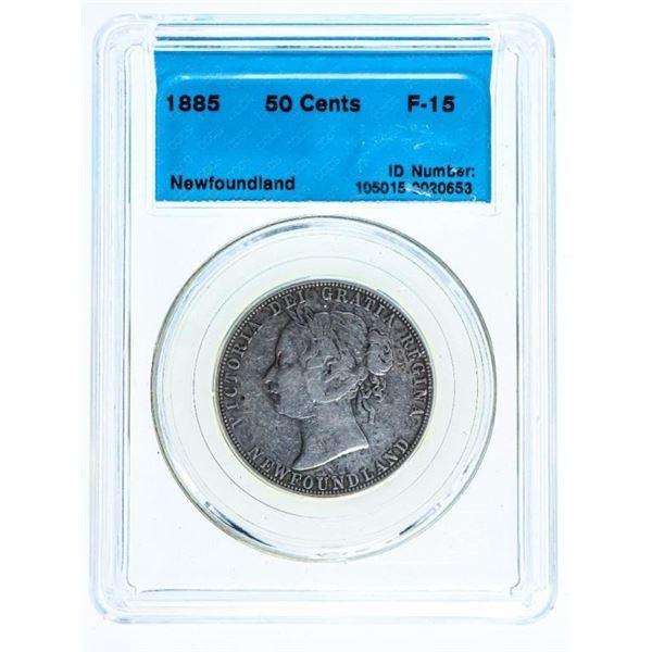 Canada 1885 50 Cents -CCCS Newfoundland