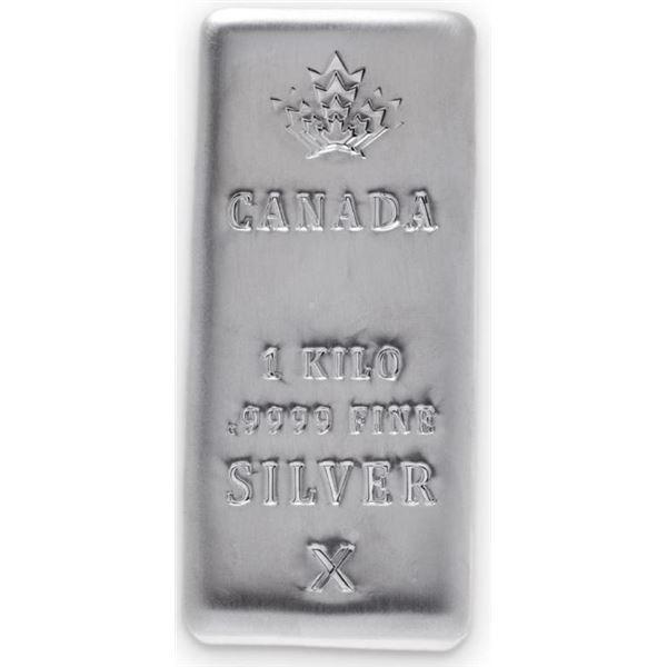 Canada's Maple Leaf .9999 Fine Silver 1 Kilo Bar.  Investment Bullion. World-class LBMA good-deliver