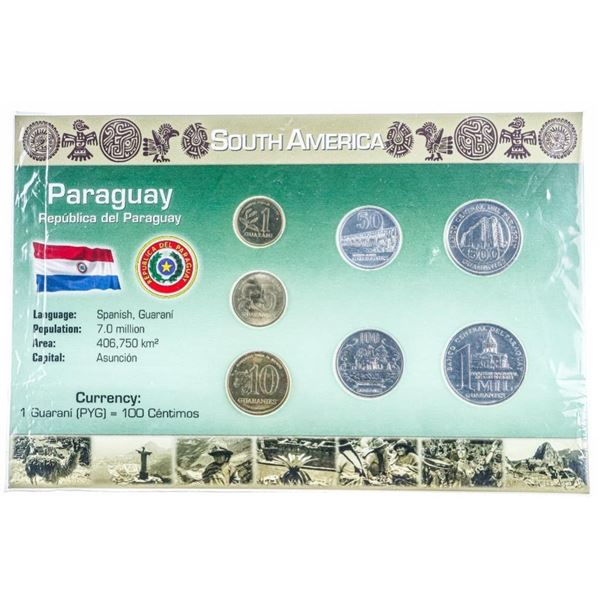 South America PARAGUAY Coin Display