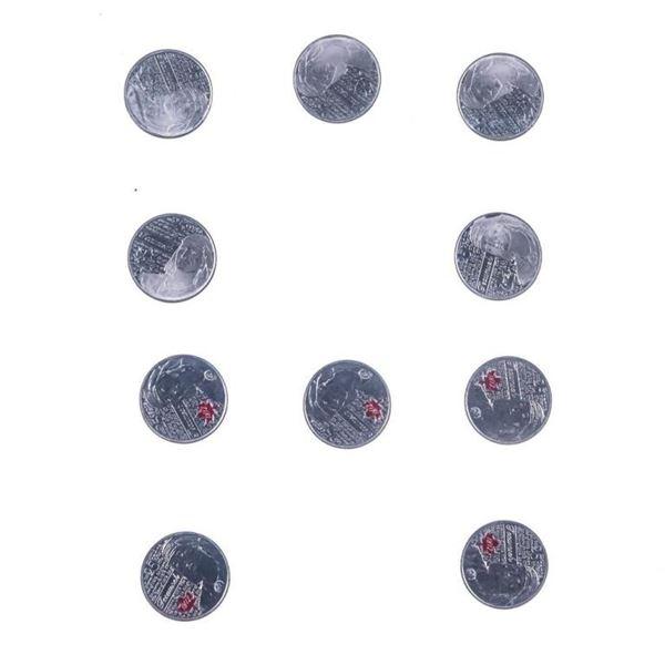 RCM Tecumseh 10 Pack 2012 25 Cent Coins (357)