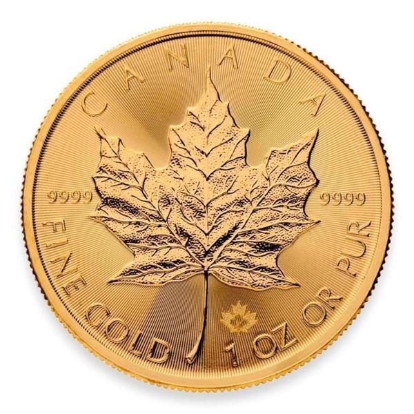 Prestige - Royal Canadian Mint .9999 Fine Gold 1oz  Maple Leaf Round with Special Maple Privy. Highl