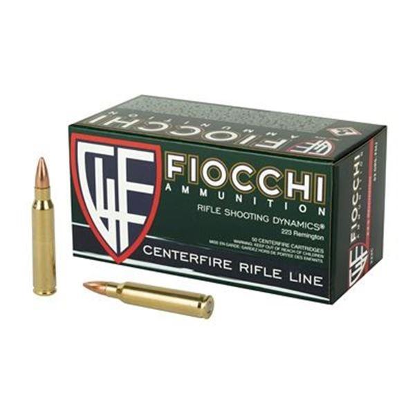 FIOCCHI 223REM 62GR FMJBT - 50 Rds