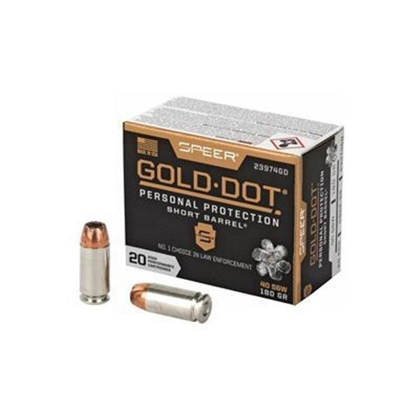 SPR GOLD DOT 40SW 180GR HP SB - 20 Rds