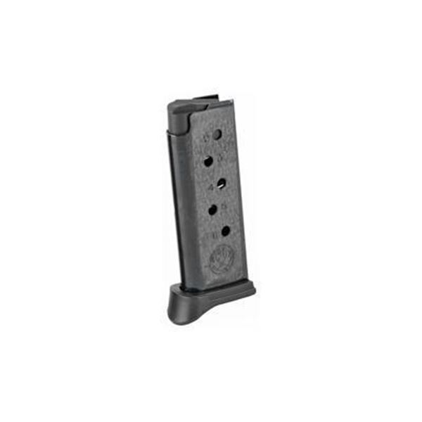 MAG RUGER LCP 380ACP 6RD BL W/EXT