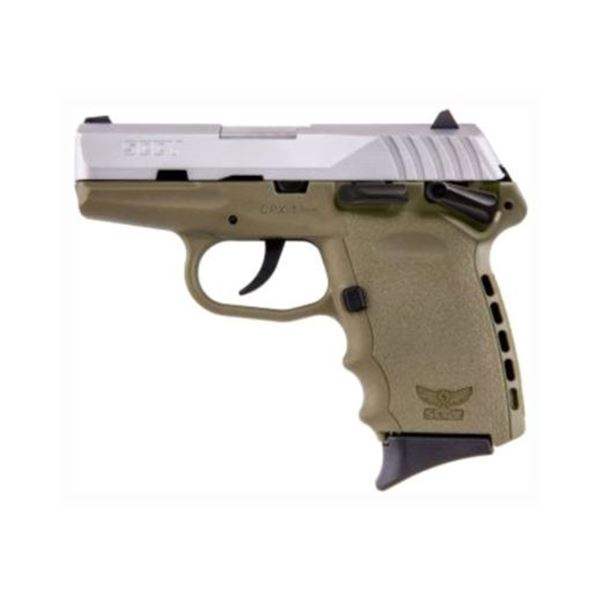 SCCY CPX1-TT PISTOL DAO 9MM 10RD SS/FDE MANUAL SAFETY