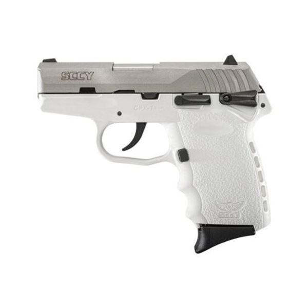 SCCY CPX1-TT PISTOL DAO 9MM 10RD SS/WHITE SAFETY