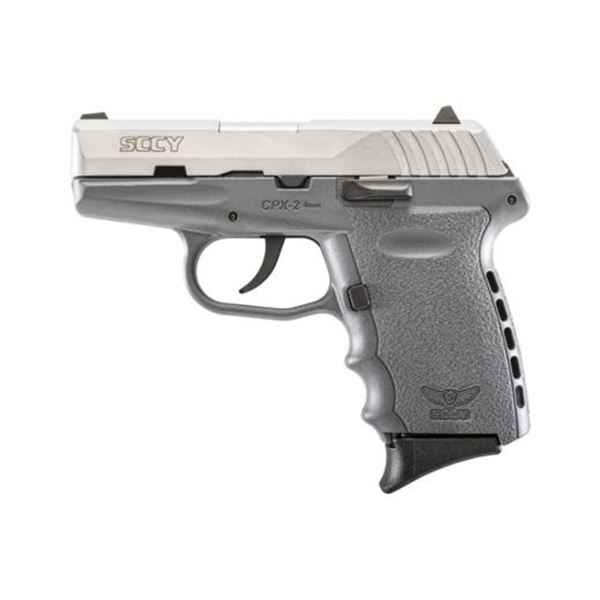 SCCY CPX2-TT PISTOL DAO 9MM 10RD SS/SNIPER GRAY W/O SAFETY