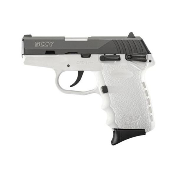 SCCY CPX1-CB PISTOL DAO 9MM 10RD BLACK/WHITE SAFETY