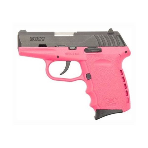 SCCY CPX2-CB PISTOL DAO 9MM 10RD BLACK/PINK W/O SAFETY