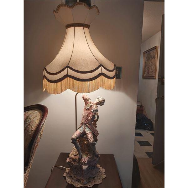 "Italian Lamp - Man Playing Violin 45""H x 20""D"