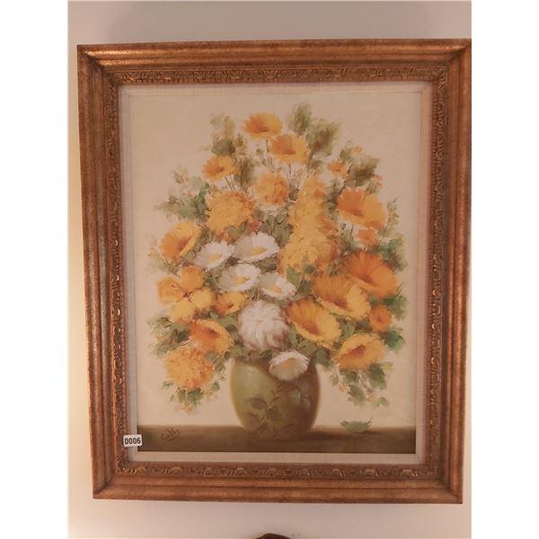 """Flower Picture - Artist L. Cuevas 31""""W x 36.5""""H"""