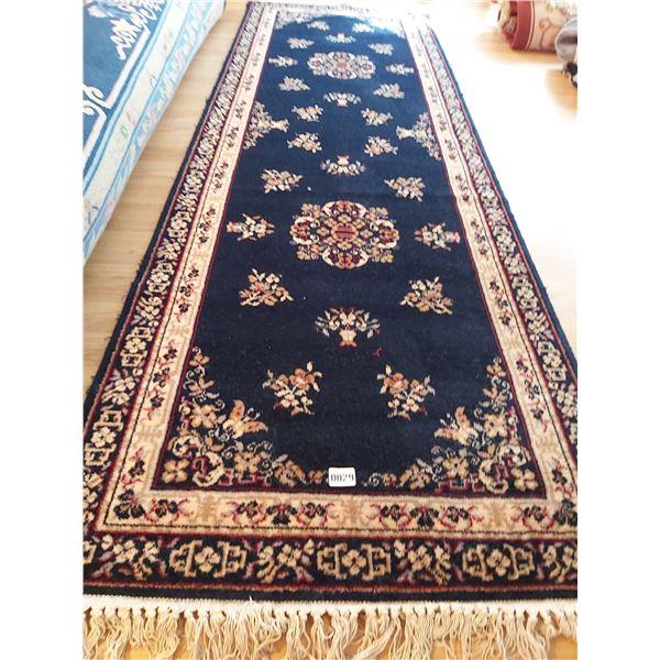 "Courtrai Royal Blue Wool Carpet Runner 104""L x 33""W"