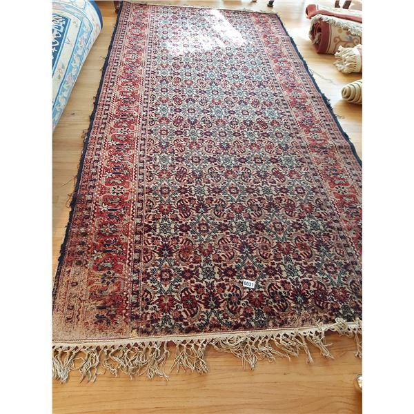 """Red & Blue Area Rug 106""""L x 51""""W"""