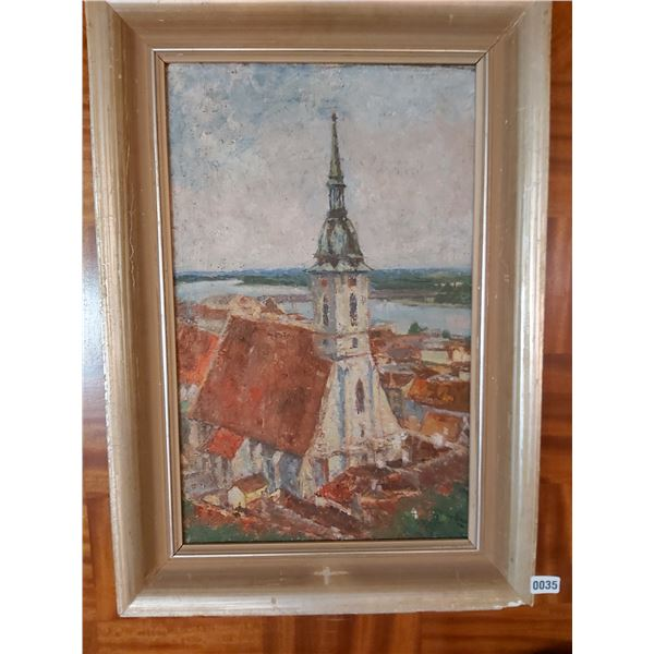 "Church Painting - Artist Unknown 22""W x 31.5""H"