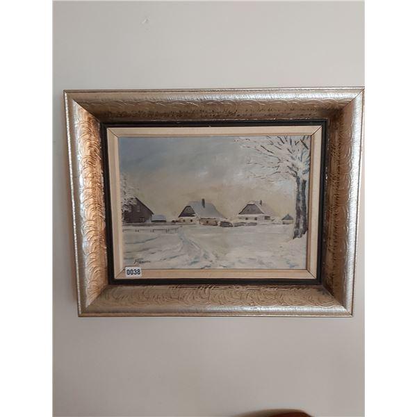 "Winter Houses - Artist - Ran-54 25""W x 20""H"
