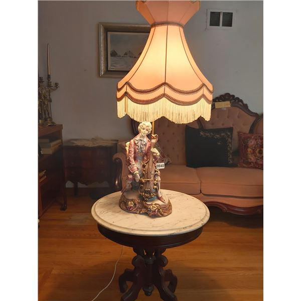 "Italian Lamp - Man Playing Cello 11""W x 35.5""H"