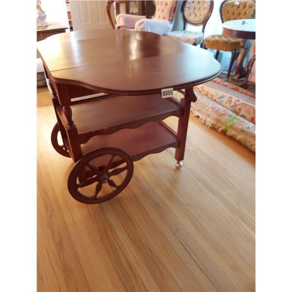 """Tea Cart 19.5""""W Collapsed 41.5""""W Extended 27""""L"""