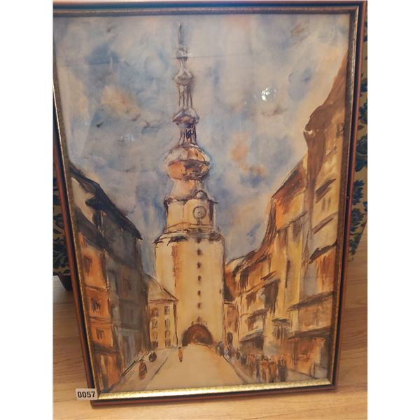 """Clock Tower Painting 18.5""""W x 26.5""""H"""