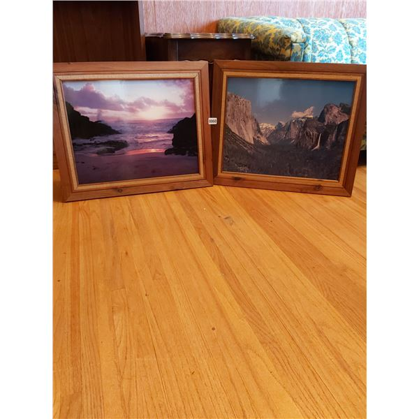 """Ocean Picture & Mountain Picture 24.5""""W x 20.5""""H"""