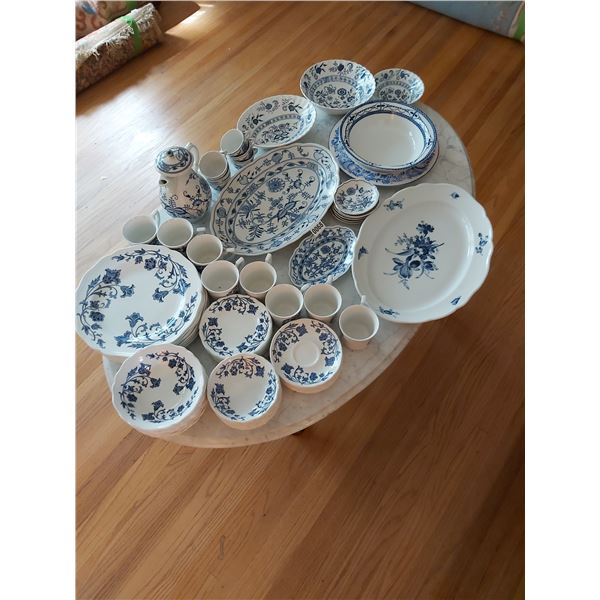 Assorted Blue & White China - approx. 70 pieces