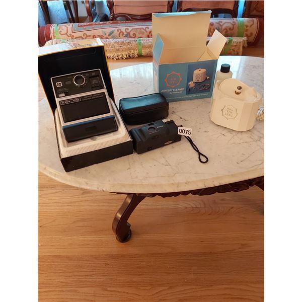 Kodak EK6 Instant Camera - Vivitar Champion II Camera & Gem Sonic Jewelery Cleaner