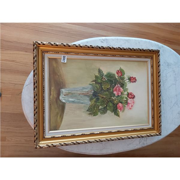 """Vase of Roses Painting - 21""""W x 28.75""""H"""