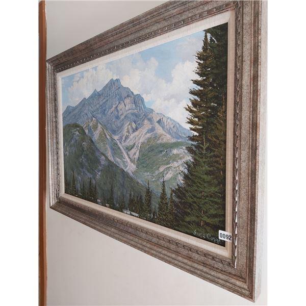 """Mountain Picture - Artist Fiora Cozzi 43""""W x 31""""H"""