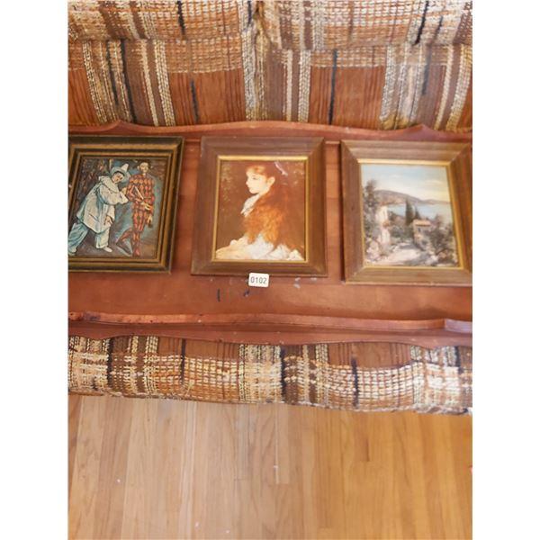 """3 Prints - Picasso - Renoir - Unknown 11""""W x 13""""H"""