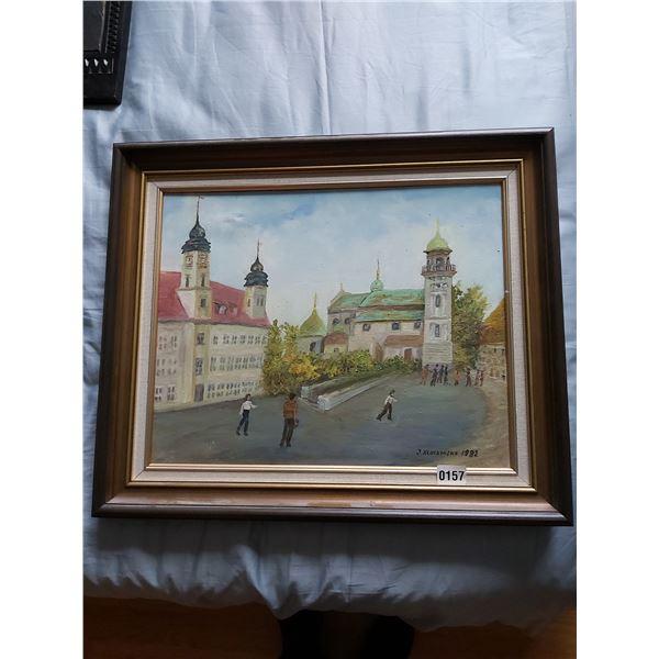 """Painting - Artist J. Kluczynska 24.75""""W x 21""""H"""