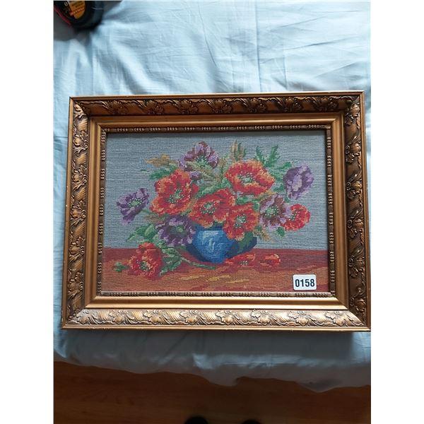 "Needlepoint - Floral Bouquet 20""W x 15.75""H"