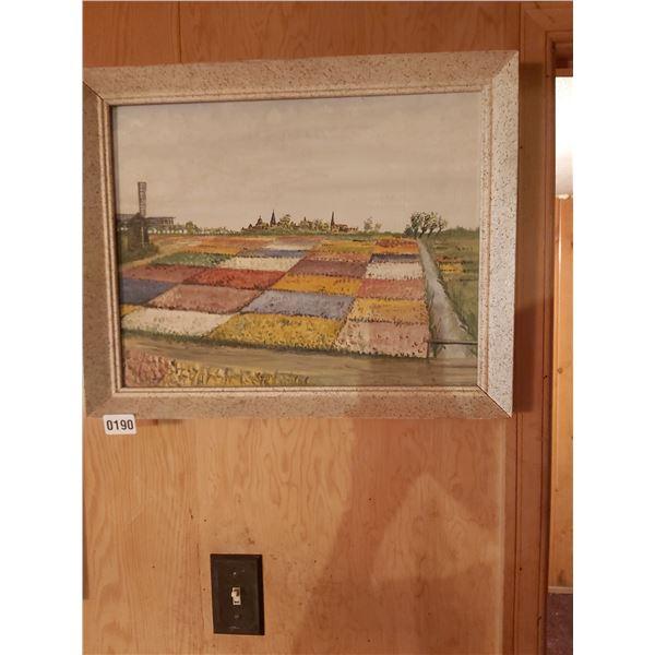 "Windmill Painting - Artist Unknown 20""W x 16""H"