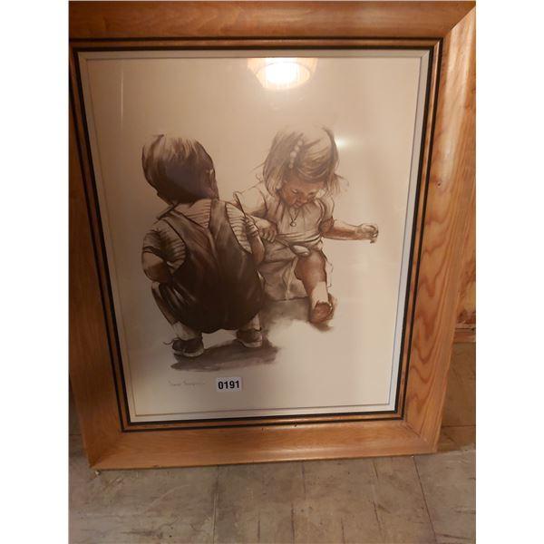"Boy & Girl Picture - Artist Joanne Thompson 21""W x 25""H"