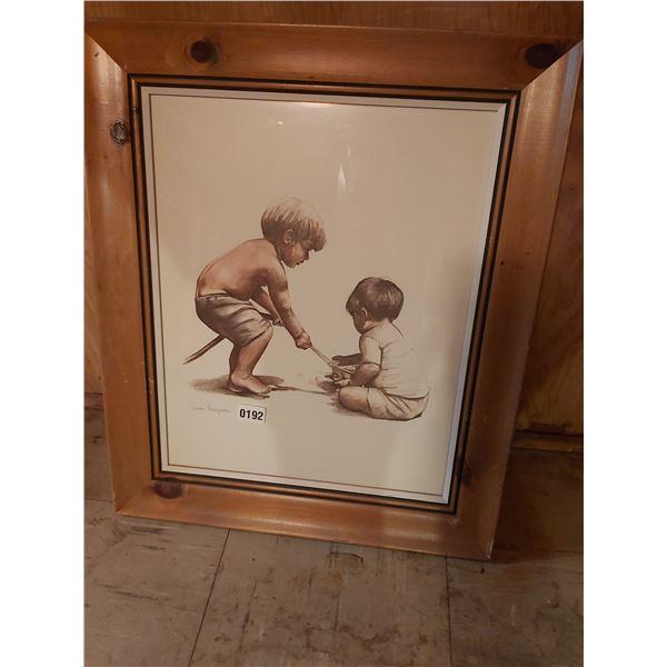 "2 Boys Picture - Artist joanne Thompson 21""W x 25""H"