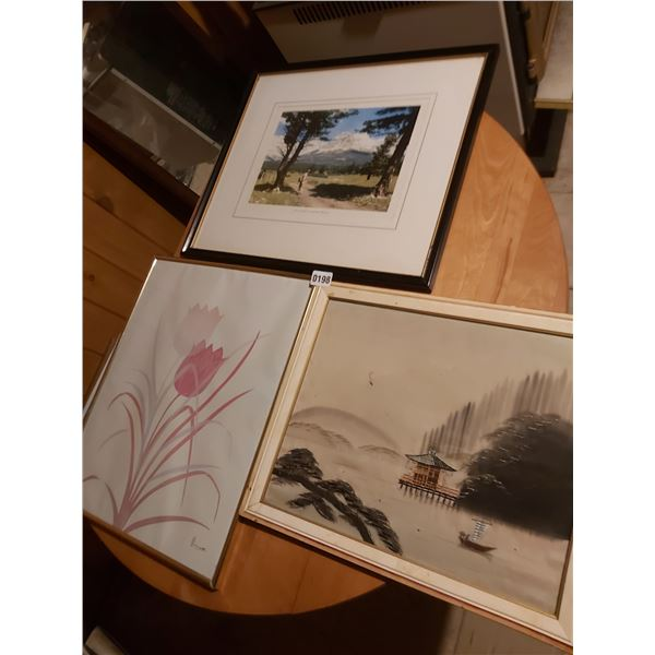 3 Assorted Framed Pictures Artists Unknwon