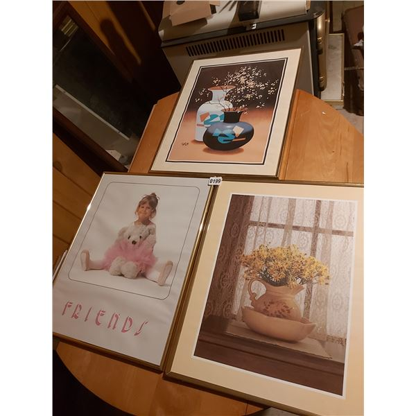 "3 Pictures - Artist Unknown - 16""W x 20""H"
