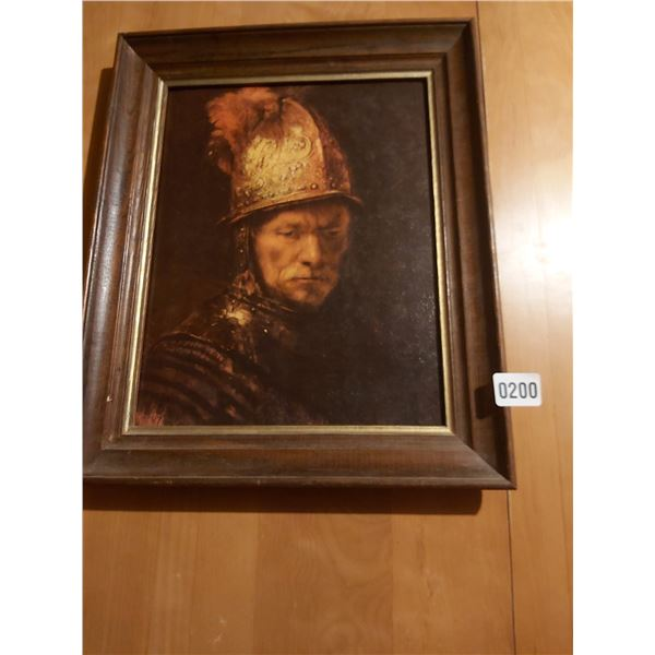 "Rembrandt Roman Warrior Print 14""W x 17""H"